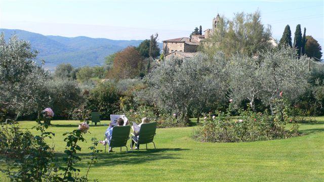La vue sur l'église de San Leolino