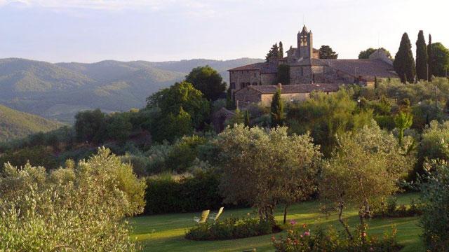 Villa le Barone: la vue sur le hameau de San Léolino