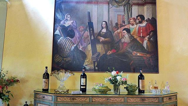 """Villa le Barone, dans le Chianti: le restaurant, avec une coupe faite à """"Mylight"""""""