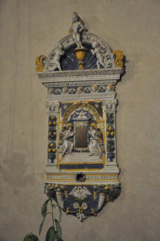 Tabernacle par Giovanni Della Robbia dans l'église de San Leolino à Panzano in Chianti