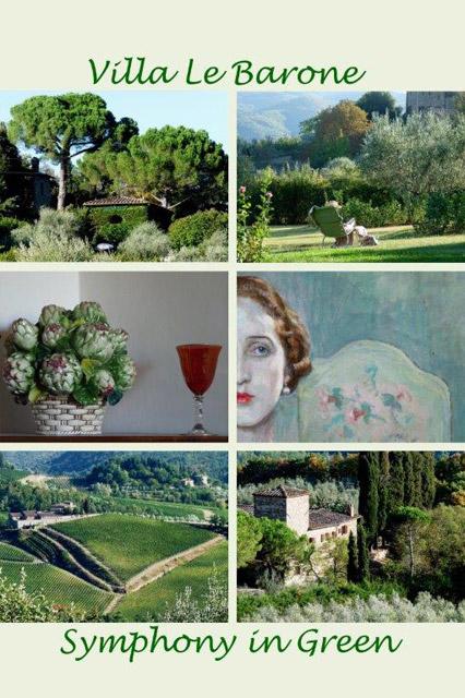 Villa le Barone en Toscane : symphonie en vert par Ellen Schneiders