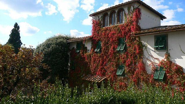 Toscane :Villa le Barone en automne