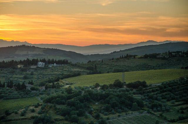 Paysage du Chianti vu de Villa le Barone par Mitch Freedman, gagnant concours photo 2012