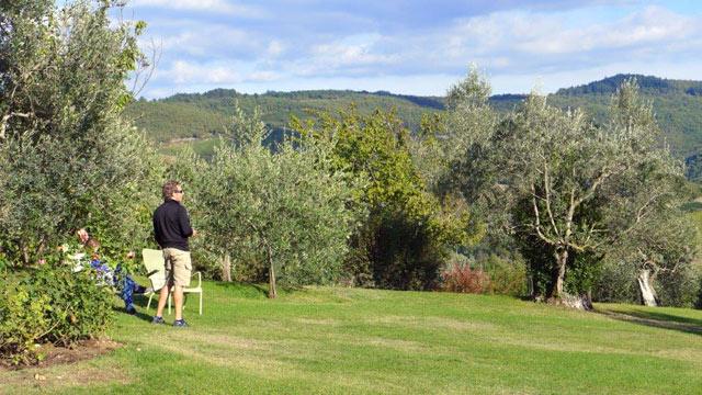 Merveilleux Chianti : une vue de Villa le Barone