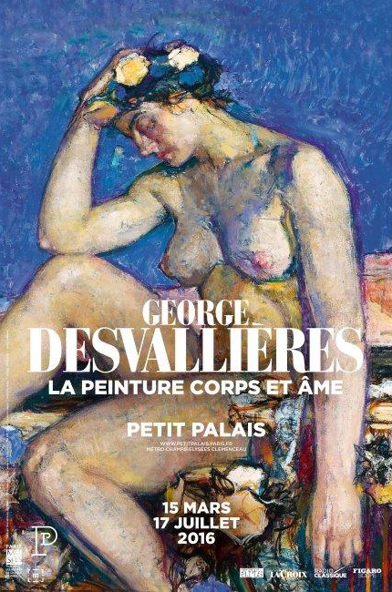 """Affiche de l'exposition """"George Desvallières""""  Paris"""