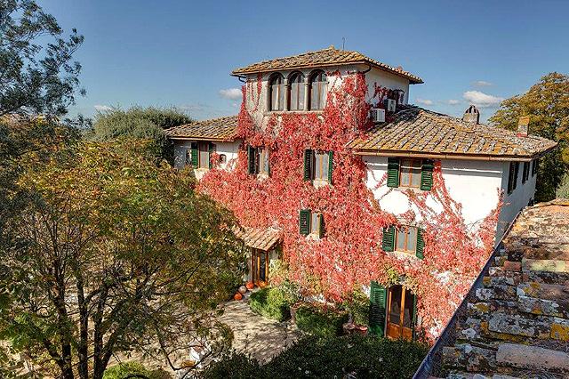 Chianti: Villa le Barone en automne