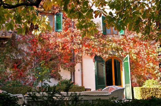 Villa le Barone couleurs d'automne