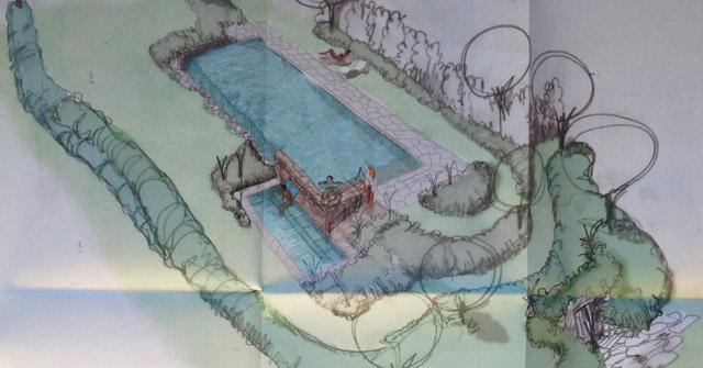 Une piscine chauffée à débordement en 2017 à Villa le Barone en Toscane