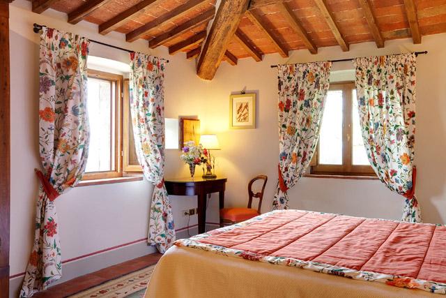 Une junior suite à Villa le Barone dans le Chianti