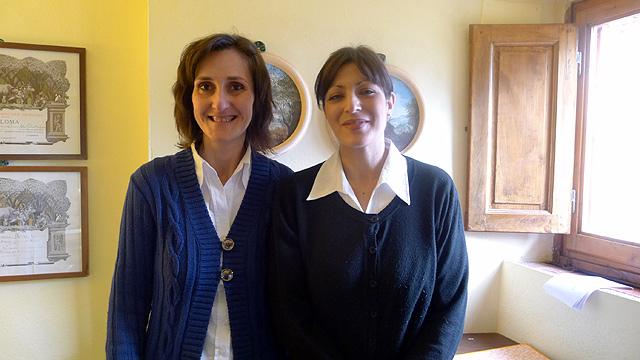 Barbara et Stefania à la réception de Villa le Barone