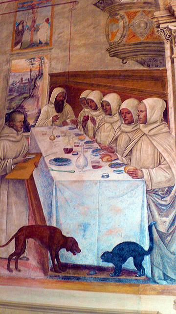 Fresque à l'Abbaye de Monte Olivetto Toscane
