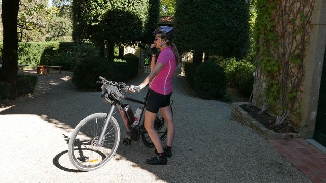 Cycliste à Villa le Barone Chianti