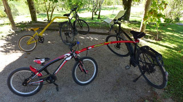 Faire du vélo avec les enfants à Villa le Barone Chianti